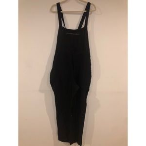Lucky Brand Black Overall Jumpsuit Size: Small New